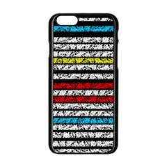 Simple Colorful Design Apple Iphone 6/6s Black Enamel Case by Valentinaart