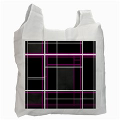 Simple Magenta Lines Recycle Bag (one Side) by Valentinaart
