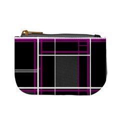 Simple Magenta Lines Mini Coin Purses by Valentinaart