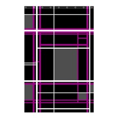 Simple Magenta Lines Shower Curtain 48  X 72  (small)  by Valentinaart