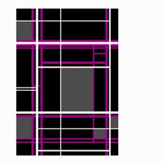 Simple Magenta Lines Small Garden Flag (two Sides) by Valentinaart