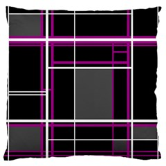 Simple Magenta Lines Standard Flano Cushion Case (two Sides) by Valentinaart