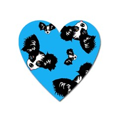 Cute Face Dog Funny Detective Heart Magnet by AnjaniArt
