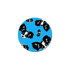 Cute Face Dog Funny Detective Golf Ball Marker (10 Pack)