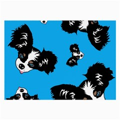 Cute Face Dog Funny Detective Large Glasses Cloth (2 Side) by AnjaniArt