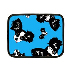Cute Face Dog Funny Detective Netbook Case (small)