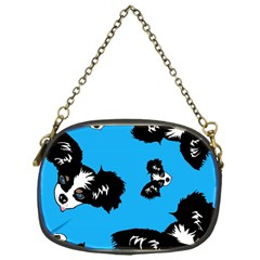 Cute Face Dog Funny Detective Chain Purses (one Side)