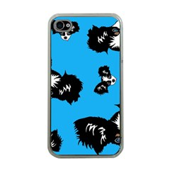 Cute Face Dog Funny Detective Apple Iphone 4 Case (clear)