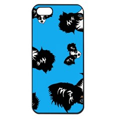 Cute Face Dog Funny Detective Apple Iphone 5 Seamless Case (black)