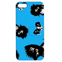 Cute Face Dog Funny Detective Apple Iphone 5 Hardshell Case With Stand by AnjaniArt