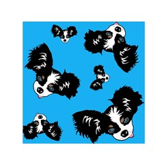 Cute Face Dog Funny Detective Small Satin Scarf (square) by AnjaniArt