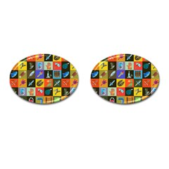 Equipment Work Cufflinks (oval)