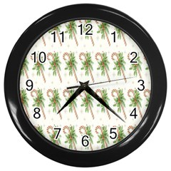 Candy Cane Printable Wall Clocks (black) by AnjaniArt