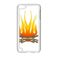 Fire Apple Ipod Touch 5 Case (white)