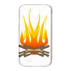 Fire Samsung Galaxy S4 Classic Hardshell Case (pc+silicone) by AnjaniArt