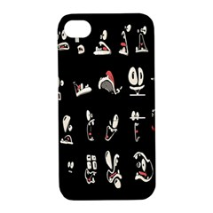 Face Mask Animals Apple Iphone 4/4s Hardshell Case With Stand by AnjaniArt