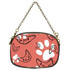 Face Cat Pink Cute Chain Purses (two Sides)  by AnjaniArt