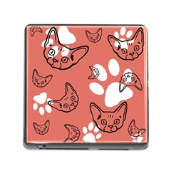 Face Cat Pink Cute Memory Card Reader (square)