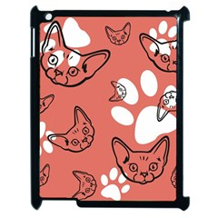 Face Cat Pink Cute Apple Ipad 2 Case (black)