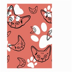Face Cat Pink Cute Small Garden Flag (two Sides) by AnjaniArt