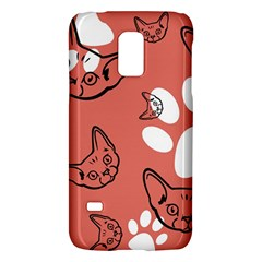 Face Cat Pink Cute Galaxy S5 Mini by AnjaniArt