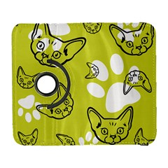 Face Cat Green Galaxy S3 (flip/folio)