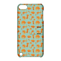 Cute Cat Animals Orange Apple Ipod Touch 5 Hardshell Case With Stand