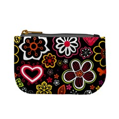 Flower Butterfly Mini Coin Purses by AnjaniArt