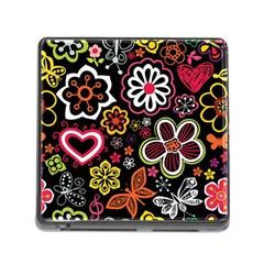 Flower Butterfly Memory Card Reader (square)
