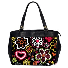 Flower Butterfly Office Handbags (2 Sides)  by AnjaniArt