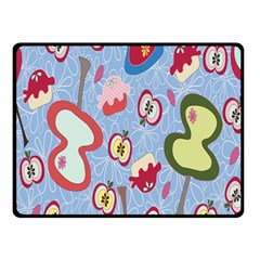 Fruit Apple Fleece Blanket (small) by AnjaniArt