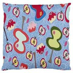 Fruit Apple Large Cushion Case (two Sides)