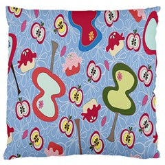 Fruit Apple Large Flano Cushion Case (two Sides) by AnjaniArt