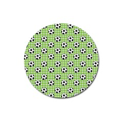 Green Ball Magnet 3  (round) by AnjaniArt
