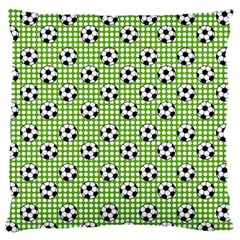 Green Ball Large Flano Cushion Case (one Side)
