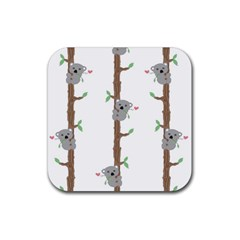 Koala Pattern Rubber Coaster (square)  by AnjaniArt