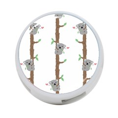 Koala Pattern 4 Port Usb Hub (two Sides)