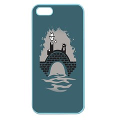 Man And Black Cat Apple Seamless Iphone 5 Case (color) by AnjaniArt