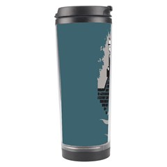 Man And Black Cat Travel Tumbler by AnjaniArt