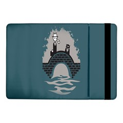 Man And Black Cat Samsung Galaxy Tab Pro 10 1  Flip Case