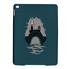 Man And Black Cat Ipad Air 2 Hardshell Cases by AnjaniArt