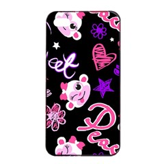 Monkey Face Cute Apple Iphone 4/4s Seamless Case (black)