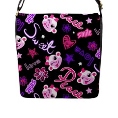 Monkey Face Cute Flap Messenger Bag (l)
