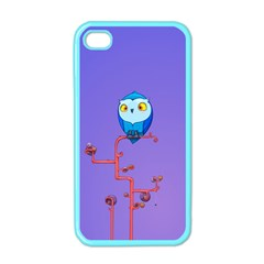 Owl Spider Apple Iphone 4 Case (color) by AnjaniArt