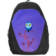 Owl Spider Backpack Bag by AnjaniArt