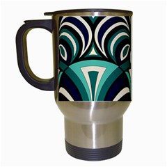 Missoni Spring Summer Travel Mugs (white) by AnjaniArt
