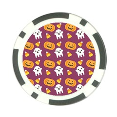 Pumpkin Ghost Canddy Helloween Poker Chip Card Guards (10 Pack)  by AnjaniArt