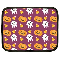 Pumpkin Ghost Canddy Helloween Netbook Case (xxl)  by AnjaniArt