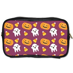 Pumpkin Ghost Canddy Helloween Toiletries Bags 2 Side by AnjaniArt