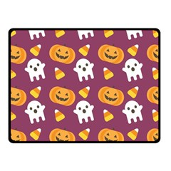 Pumpkin Ghost Canddy Helloween Fleece Blanket (small)